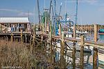 Shrimp boats in Shem Creek, South Carolina, USA