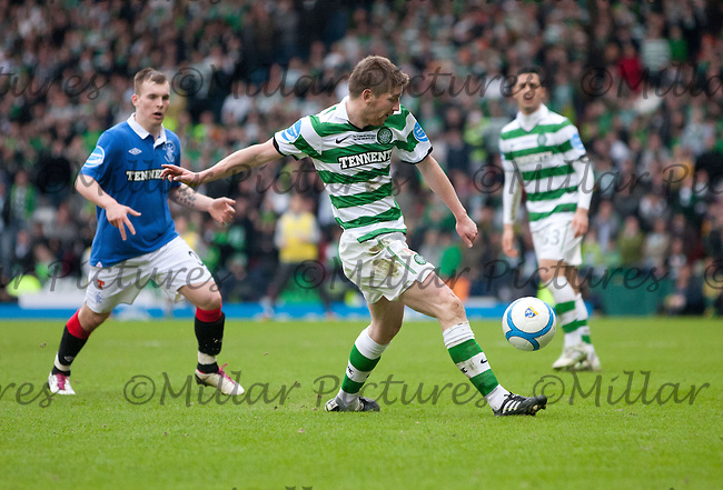 Mark Wilson clearing the ball