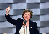 Randi Weingarten, President, American Federation of Teachers, makes remarks at the 2016 Democratic National Convention at the Wells Fargo Center in Philadelphia, Pennsylvania on Monday, July 25, 2016.<br /> Credit: Ron Sachs / CNP<br /> (RESTRICTION: NO New York or New Jersey Newspapers or newspapers within a 75 mile radius of New York City)