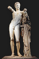 Hermes of Praxiteles (340-330 B.C.) in Olympia museum, Greece