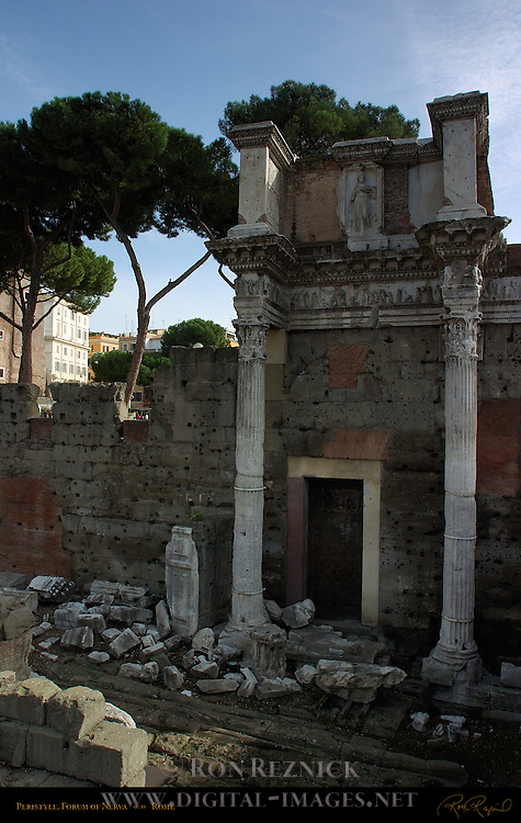 Peristyle Forum of Nerva Transitory Forum Domitian 97 AD Frieze Myth of Arachne Rome