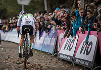 World Champion Sanne Cant (BEL/Beobank Corendon) up the Koppenberg.<br /> <br /> <br /> women's race.<br /> Koppenbergcross Belgium 2018