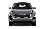 Car photography straight front view of a 2017 KIA Sportage 2.4-EX-AT-AWD 5 Door SUV Front View