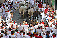 First bullruning of San Fermin