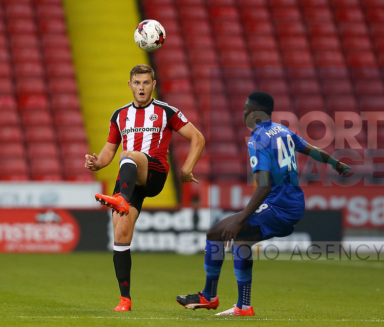 Jack O'Connell of Sheffield Utd during the Checkatrade Trophy match at Bramall Lane Stadium, Sheffield. Picture date: August 30th, 2016. Pic Simon Bellis/Sportimage