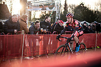 race leader and later race winner Laurens Sweeck (BEL/Pauwels Sauzen - Bingoal)<br /> <br /> Elite Men's Race <br /> Belgian National CX Championships<br /> Antwerp 2020