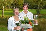 BEETSTERZWAAG - Lianne Jansen en Fernand Osther , winnaars van het Het Nederlands Kampioenschap Matchplay 2011 op Lauswolt . Copyright Koen Suyk