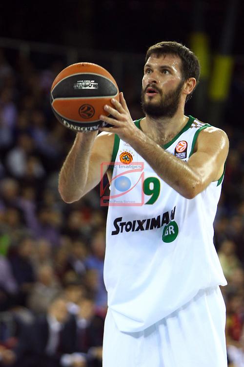 Euroleague Basketball-Regular Season Round 5.<br /> FC Barcelona vs Panathinaikos Athens: 78-69.<br /> Antonis Fotsis.