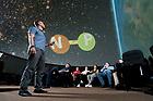 July 12, 2017; Presentation in Digital Visualization Theater (Photo by Matt Cashore/University of Notre Dame)