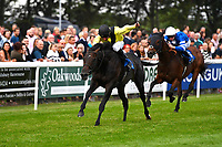 Winner of The Bathwick Tyres Handicap, Koeman ridden by John Egan and trained by Mick Shannon during Ladies Evening Racing at Salisbury Racecourse on 15th July 2017