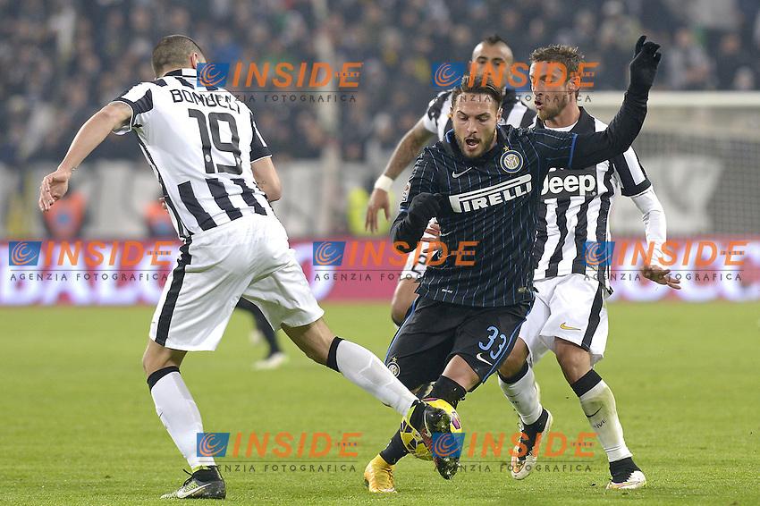 Danilo D'Ambrosio Inter, Claudio Marchisio Juventus,<br /> Torino 06-01-2015, Juventus Stadium, Football Calcio 2014/2015 Serie A, Juventus - Inter, Foto Filippo Alfero/Insidefoto