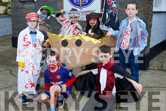 Castleisland Boys NS school Held a fancy dress fundraiser for Currow boy Shane Brosnan. Pictured front Ryan Browne, Michael O'Brien Back Ben McCarthy, Adrian Holewa, Filip Konsiorwski, James Burke, Rohan O'Sullivan