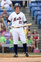 July 7th 2008:  Mike Carp of the Binghamton Mets, Class-AA affiliate of the New York Mets, during a game at NYSEG Stadium in Binghamton, NY.  Photo by:  Mike Janes/Four Seam Images