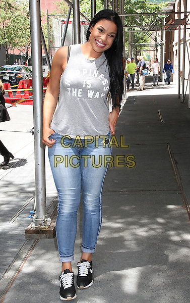 NEW YORK, NY - JUNE 30:  Jordin Sparks spotted leaving 'The View' following an appearance as guest co-host in New York, New York on June 30, 2016.  <br /> CAP/MPI/RMP<br /> &copy;RMP/MPI/Capital Pictures