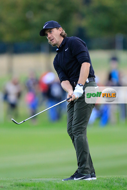 Tommy Fleetwood (ENG) in action during round 3 of the British Masters played at The Grove, Chandler's Cross, Hertfordshire, England.  15/10/2016<br /> Picture: Golffile | Phil Inglis<br /> <br /> <br /> All photo usage must carry mandatory copyright credit (&copy; Golffile | Phil Inglis)