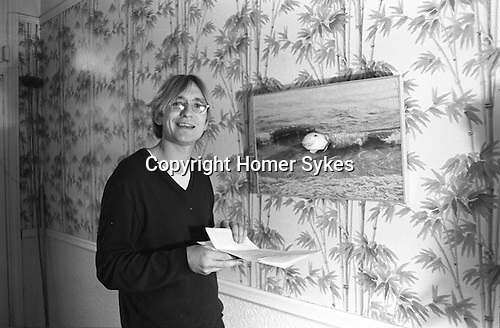 Patrick Hughes artist in his London studio, 43 Idmiston Road, London SE27 1968 UK.<br />