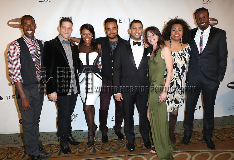 The cast of 'Rent' attend the Drama League's 30th Annual 'Musical Celebration of Broadway' honoring Neil Patrick Harris at the Pierre Hotel on February 3, 2014 in New York City.