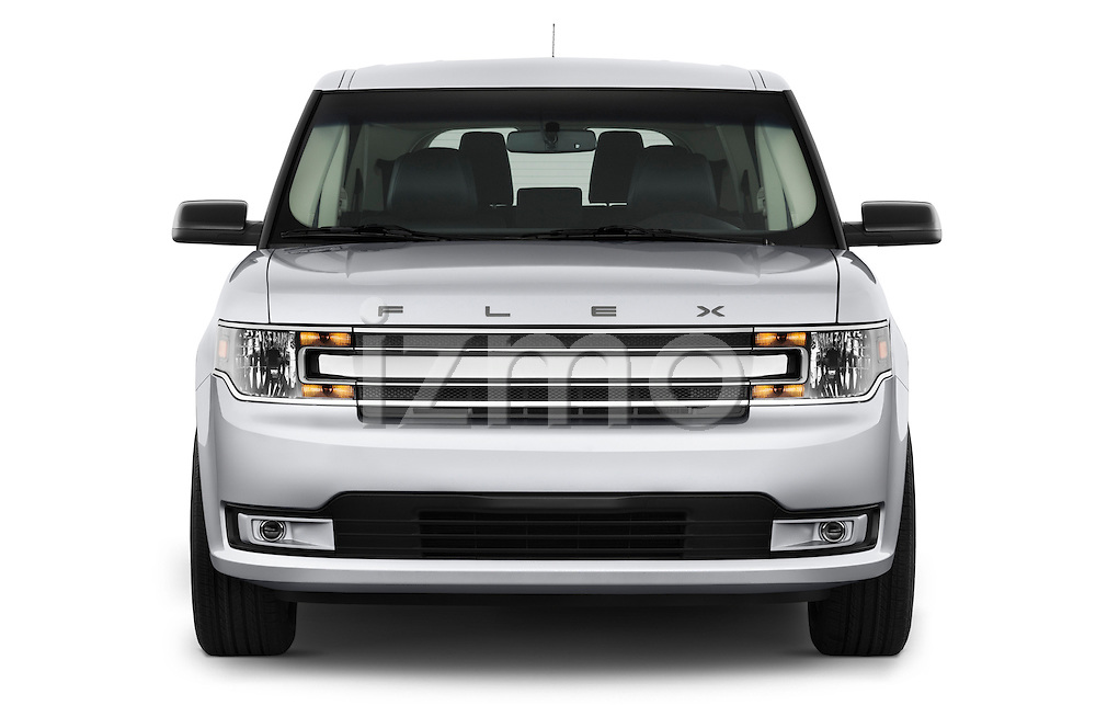 Straight front view of a 2018 Ford Flex SEL