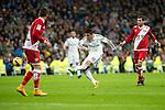 Football match between Real Madrid and Rayo Vallecano at 8th Novembre, 2014 in Stadium Santiago Bernabéu.<br /> James.