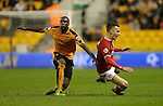 Jeremy Helan of Wolves (left) competes with Joe Bryan of Bristol City - Football - Wolverhampton Wanderers vs Bristol City - Molineux Wolverhampton - Sky Bet Championship - 8th March 2016 - Season 2015/2016 - Picture Malcolm Couzens/Sportimage