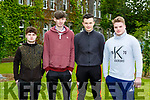 St Brendans College students Ruairi O'Keeffe, Jake Flynn, Gary O'Connor and Dylan McCarthy after their exam on Friday