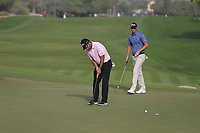 Pablo Larrazabal (ESP) on the 3rd green during Round 2 of the Omega Dubai Desert Classic, Emirates Golf Club, Dubai,  United Arab Emirates. 25/01/2019<br /> Picture: Golffile | Thos Caffrey<br /> <br /> <br /> All photo usage must carry mandatory copyright credit (© Golffile | Thos Caffrey)