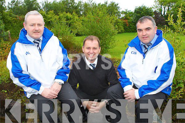 Umpires John O'Connor, Castleisland left and Liam Brosnan Currow with referee Padraig O'Sullivan Firies at 7:30am on Saturday morning when they left for Aughrim where they officiated at the Wicklow v Waterford Senior Championship qualifier...