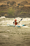 USA, Oregon, Wild and Scenic Rogue River in the Medford District, Kayaking Horseshoe Rapid