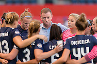 Bridgeview, IL, USA - Sunday, May 29, 2016: Sky Blue FC head coach Christy Holly after a regular season National Women's Soccer League match between the Chicago Red Stars and Sky Blue FC at Toyota Park. The game ended in a 1-1 tie.