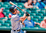 18 July 2018: Trenton Thunder infielder Mandy Alvarez in action against the New Hampshire Fisher Cats at Northeast Delta Dental Stadium in Manchester, NH. The Thunder defeated the Fisher Cats 3-2 concluding a previous game started April 29. Mandatory Credit: Ed Wolfstein Photo *** RAW (NEF) Image File Available ***