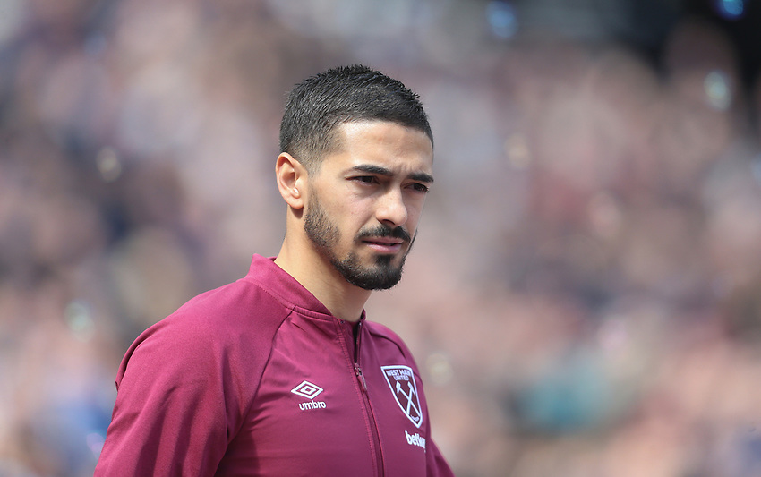 West Ham United's Manuel Lanzini<br /> <br /> Photographer Rob Newell/CameraSport<br /> <br /> The Premier League - West Ham United v Southampton - Saturday 4th May 2019 - London Stadium - London<br /> <br /> World Copyright © 2019 CameraSport. All rights reserved. 43 Linden Ave. Countesthorpe. Leicester. England. LE8 5PG - Tel: +44 (0) 116 277 4147 - admin@camerasport.com - www.camerasport.com