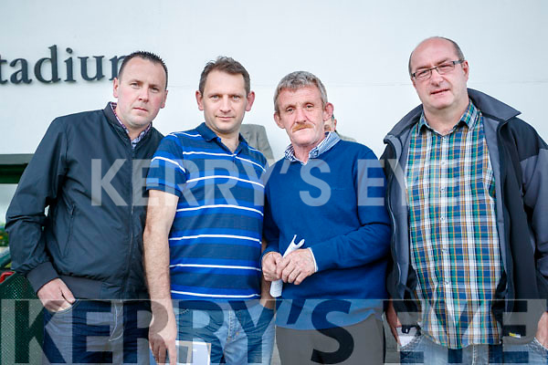 Pictured at the Kingdom Greyhound Stadium, Tralee on Saturday night last were l-r: Mike O'Shea Darren Houlihan Tom Reidy and Thomas Clifford.