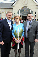 2-5-2014: Taosieach Enda Kenny joined hotelier Kay Randles and her family including her son Tom as they celebrate the Dromhall Hotel's 50th birthday during his visit to Killarney on Friday.<br /> Picture by Don MacMonagle<br /> <br /> <br /> REPRO FREE PHOTO