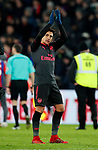 Arsenal's Alexis Sanchez waves to the Arsenal fans at the final whistle during the premier league match at Selhurst Park Stadium, London. Picture date 28th December 2017. Picture credit should read: David Klein/Sportimage