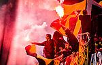 Solna 2014-08-13 Fotboll Allsvenskan AIK - Djurg&aring;rdens IF :  <br /> AIK:s supportrar eldar med bengaliska eldar<br /> (Foto: Kenta J&ouml;nsson) Nyckelord:  AIK Gnaget Friends Arena Allsvenskan Derby Djurg&aring;rden DIF supporter fans publik supporters bengaler bengaliska eldar pyroteknik pyro