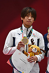 Ami Kondo (JPN), <br /> AUGUST 29, 2018 - Judo : Women's -48kg Victory ceremony at Jakarta Convention Center Plenary Hall during the 2018 Jakarta Palembang Asian Games in Jakarta, Indonesia. <br /> (Photo by MATSUO.K/AFLO SPORT)
