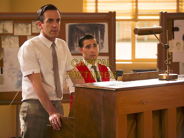 B.J. Novak, Jason Schwartzman<br /> in Saving Mr. Banks (2013) <br /> *Filmstill - Editorial Use Only*<br /> CAP/NFS<br /> Image supplied by Capital Pictures