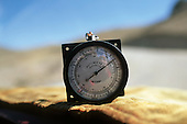 Arequipa, Peru. Altimeter showing an altitude of 4,300 metres on a high pass in the Andes.