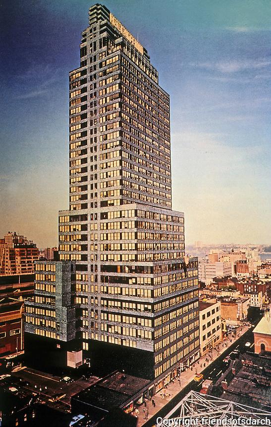 New York: McGraw Hill Building, 1931. Raymond Hood, Architect. Photo
