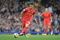 28.10.2012 Liverpool, England. Suso  of Liverpool   in action during the Premier League game between Everton and Liverpool  from Goodison Park ,Liverpool