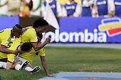 Farid Diaz, Edwin Cardona, James Rodriguez, Juan Cuadrado celebran con Carlos Bacca luego que anotara el tercer gol contra Ecuador en partido de eliminatorias para el Mundial de F&uacute;tbol 2018 en el Estadio Metropolitano Roberto Melendez de Barranquilla el 29 de marzo de 2016.<br /> <br /> Foto: Archivolatino<br /> <br /> COPYRIGHT: Archivolatino<br /> Prohibido su uso sin autorizaci&oacute;n.