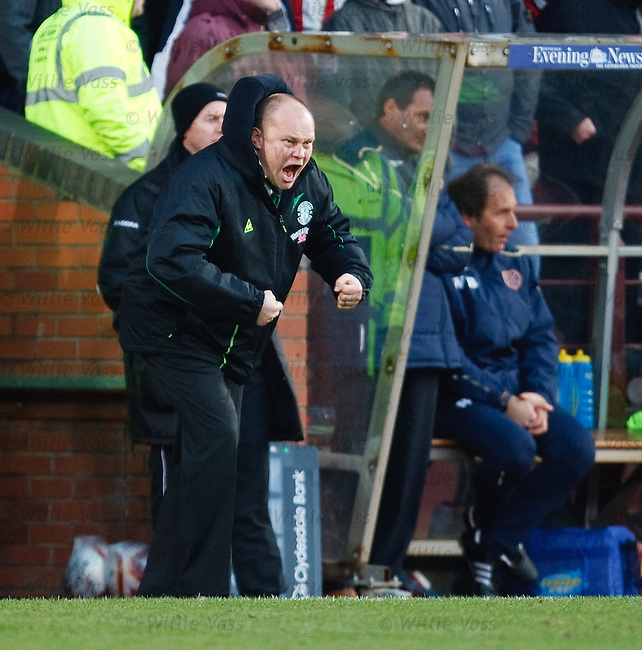 Mixu Paatelainen roars at his Hibs players