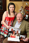 Liam Leddy with his grandaughter Chloe with the CD they recorded..Photo NEWSFILE/Jenny Matthews.(Photo credit should read Jenny Matthews/NEWSFILE)....This Picture has been sent you under the condtions enclosed by:.Newsfile Ltd..The Studio,.Millmount Abbey,.Drogheda,.Co Meath..Ireland..Tel: +353(0)41-9871240.Fax: +353(0)41-9871260.GSM: +353(0)86-2500958.email: pictures@newsfile.ie.www.newsfile.ie.FTP: 193.120.102.198.