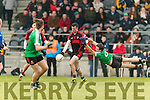 Sean O'Leary Kenmare in action against Jeff Lohan Adare at Mallow on Sunday