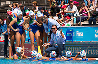 Classification 5-8 Place WaterPolo Women's<br /> Italy ITA (White Cup) Vs Australia AUS (Blue Cup)<br /> Team Italy (ITA) Time Out<br /> Day 13 26/07/2017<br /> XVII FINA World Championships Aquatics<br /> City Park - Varosliget Lake<br /> Budapest Hungary <br /> Photo Pasquale Mesiano/Deepbluemedia/Insidefoto