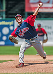 8 July 2014: Lowell Spinners pitcher Rob Smorol on the mound against the Vermont Lake Monsters at Centennial Field in Burlington, Vermont. The Lake Monsters rallied in the 9th inning to defeat the Spinners 5-4 in NY Penn League action. Mandatory Credit: Ed Wolfstein Photo *** RAW Image File Available ****