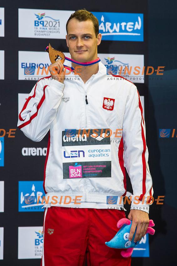 KORZENIOWSKI Pawel POL Bronze Medal<br /> 200m Butterfly Men Final<br /> 32nd LEN European Championships <br /> Berlin, Germany 2014  Aug.13 th - Aug. 24 th<br /> Day09 - Aug. 21<br /> Photo G. Scala/Deepbluemedia/Inside