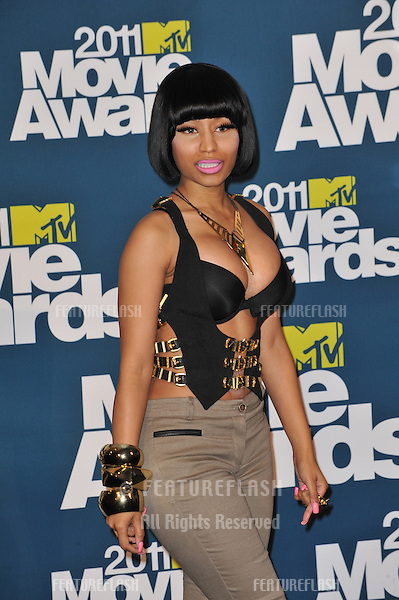Nicki Minaj at the 2011 MTV Movie Awards at the Gibson Amphitheatre, Universal Studios, Hollywood..June 5, 2011  Los Angeles, CA.Picture: Paul Smith / Featureflash