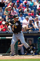 Pittsburgh Pirates shortstop Clint Barmes #12 at bat during the Major League Baseball game against the Philadelphia Phillies on June 28, 2012 at Citizens Bank Park in Philadelphia, Pennsylvania. The Pirates defeated the Phillies 5-4. (Andrew Woolley/Four Seam Images).
