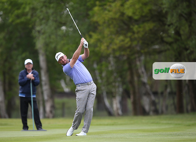 Graeme McDowell (NIR) plays second shot to the 9th during Round Two of the 2015 BMW PGA Championship over the West Course at Wentworth, Virginia Water, London. 22/05/2015Picture David Lloyd, www.golffile.ie.